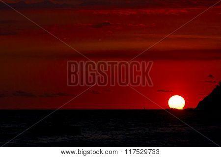 Sunset  Lagoon Peace And Coastline  Madagascar