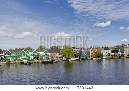 Typical Buildings At Zaanse Schans, Amsterdam, Holland