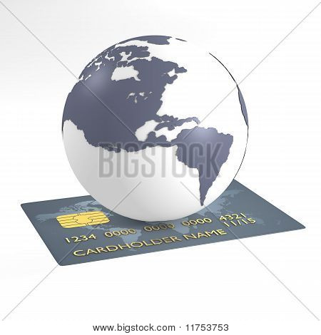 Credit card and earth