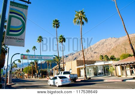 Palm Canyon Dr  in Palm Spring