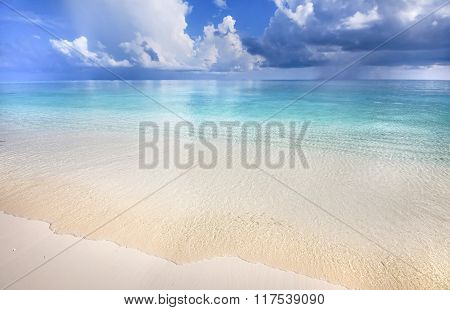 Tropical Beach With Blue Lagoon