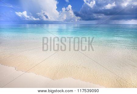 Tropical Beach With Blue Lagoon