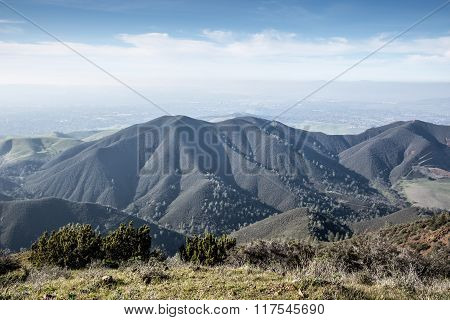 Views from Eagle Peak, Mt. Diablo State Park, Northern California Landscape.