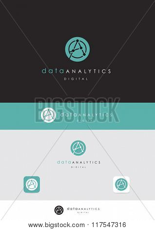 PREMIUM VECTOR LOGO DESIGN FOR DATA COMPANY