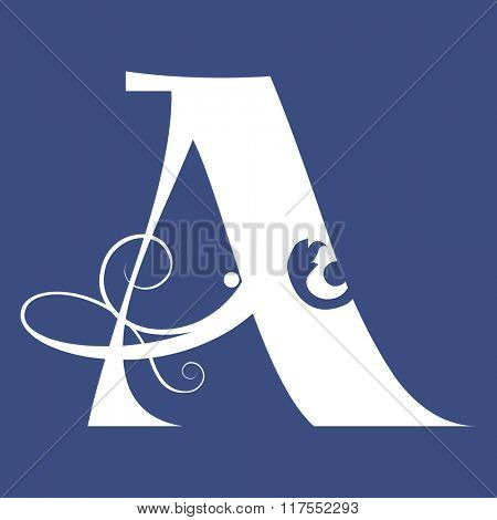 calligraphic letter A