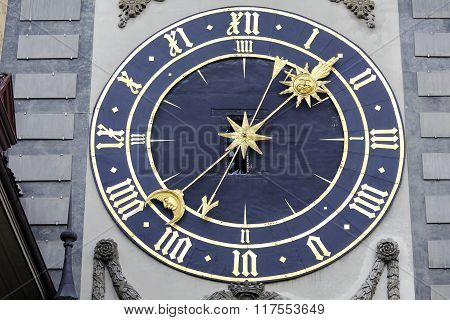 The Eastern Clockface Of Zytglogge