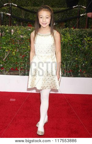 LOS ANGELES - JAN 30:  Aubrey Anderson-Emmons at the 22nd Screen Actors Guild Awards at the Shrine Auditorium on January 30, 2016 in Los Angeles, CA