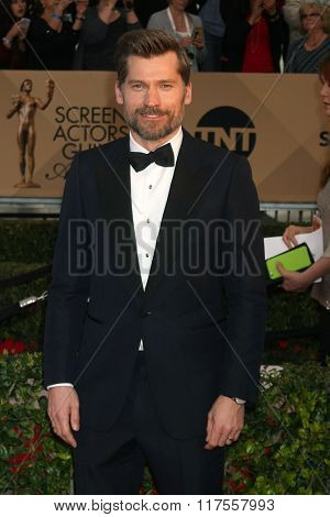 LOS ANGELES - JAN 30:  Nikolaj Coster-Waldau at the 22nd Screen Actors Guild Awards at the Shrine Auditorium on January 30, 2016 in Los Angeles, CA