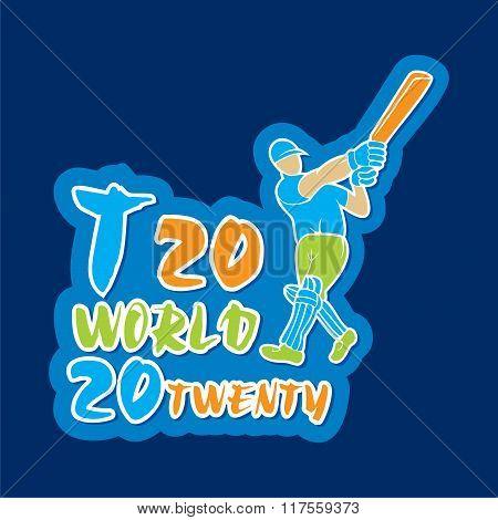 t20 cricket world poster design