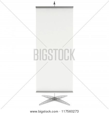 Blank Roll Up Banner Stand. 3D