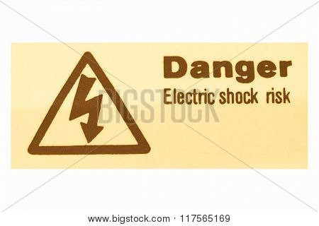 Electric Shock Sign Vintage