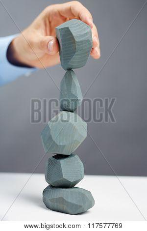 Tower of grey stones