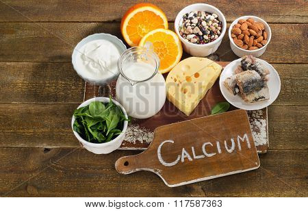 Best Calcium Rich Foods Sources. Healthy Diet Eating.