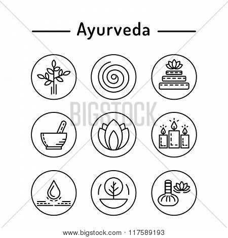 Ayurveda Set Icon