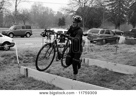 Senior Men Hurdle Obstacles