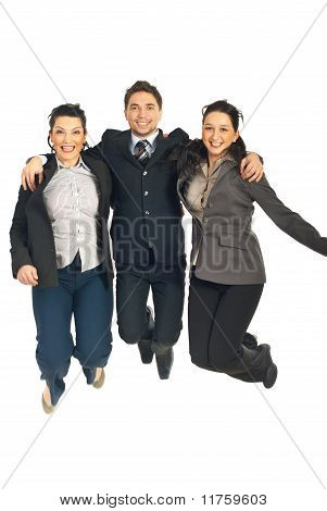 Group Of Business People Jumping