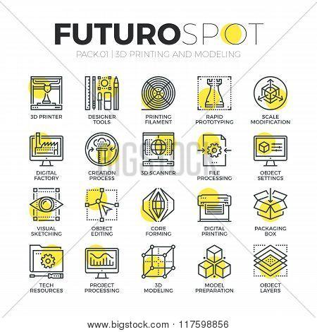 3D Modeling Futuro Spot Icons