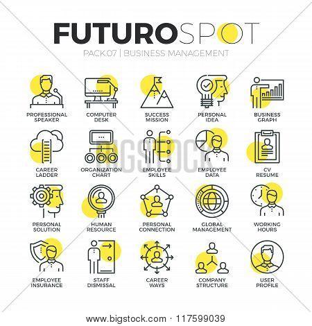 Business Organization Futuro Spot Icons