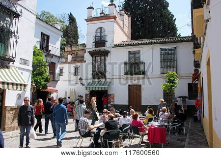 Pavement cafe, Seville.