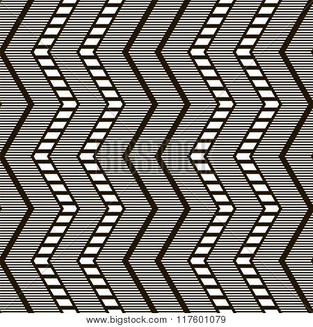 Stylish Elegant Modern Black And White Seamless Pattern