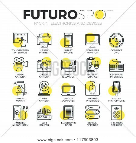 Computer Devices Futuro Spot Icons