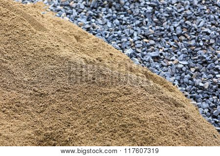 Sand And Stone For Construction Work