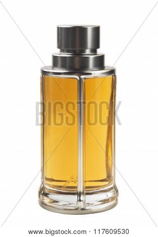 luxury perfume bottle isolated on white