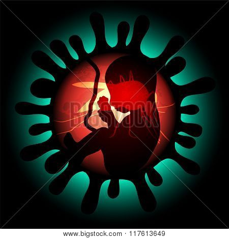 Zika Virus Infection And Pregnancy Vector Illustration