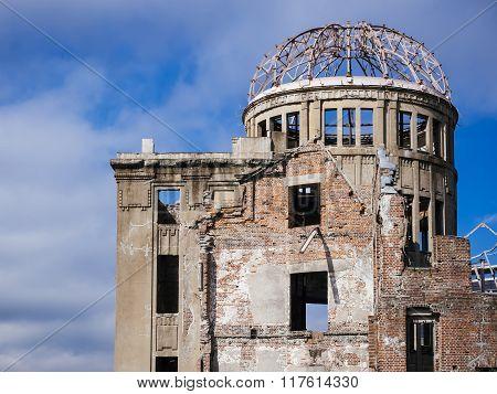Hiroshima, Japan - November 3, 2015: Hiroshima Peace Memorial The Atomic Bomb Dome