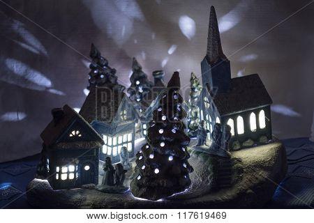 Christmas Village Made Of Ceramic