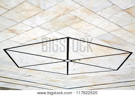 busto arsizio street lombardy italy varese abstract pavement of a curch and marble poster