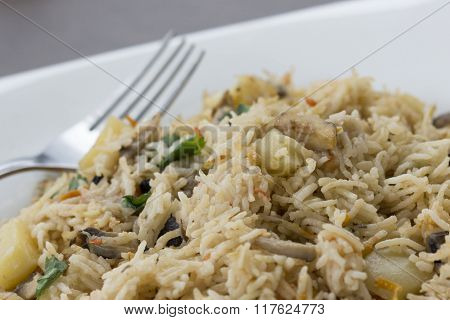 Goan Mushroom Pulao Is A Quick And Tasty Recipe From Goan Cuisine.