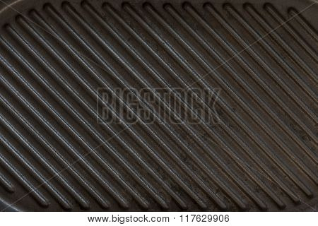Black grill pan background