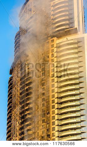 A Hotel On Fire On January 1St, 2016 - Dubai