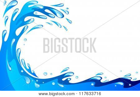 Ocean big wave