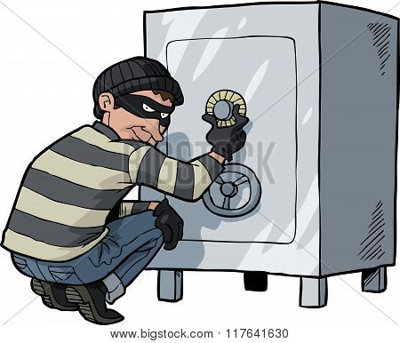Cartoon Doodle Safecracker