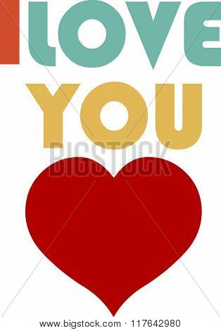 Vector Illustration Of A  I Love You