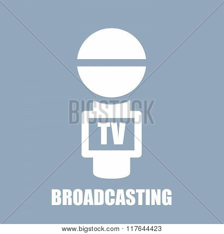 Microphone Icon With Tv Channel Label