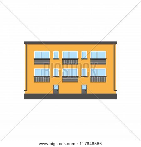 Two-storey house illustration