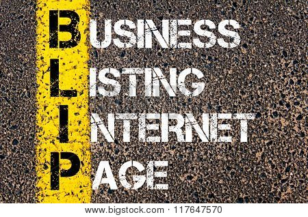 Business Acronym Blip Business Listing Internet Page