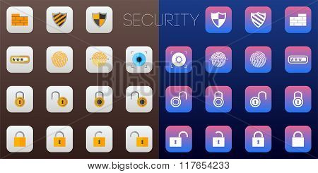 Security Icons Ios Styled