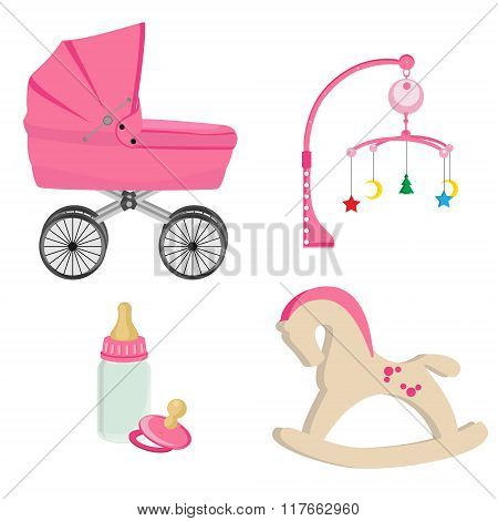 Pink Baby Toys