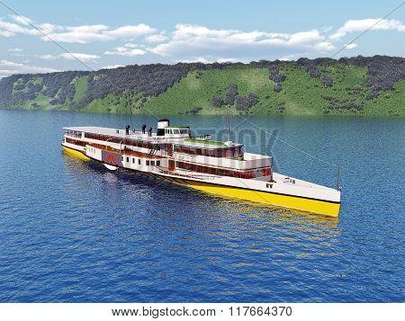 German Rhine steamship
