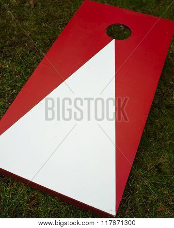 Plain Cornhole Toss Game Board
