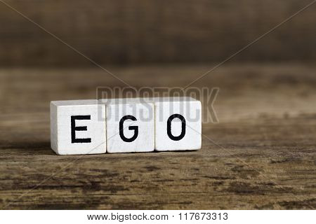 The Word Ego Written In Cubes