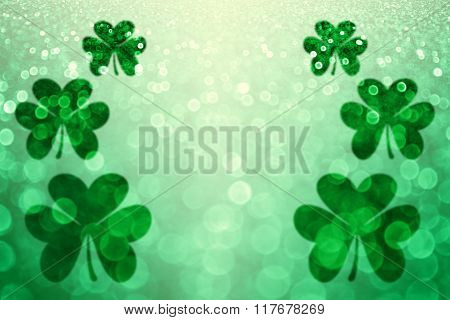 St Patrick's Day shamrock Irish lucky background party invite