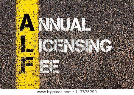 Business Acronym Alf Annual Licensing Fee