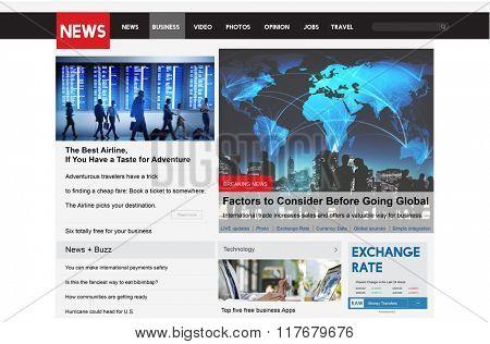 News Feed Newsletter Headline Blog Concept