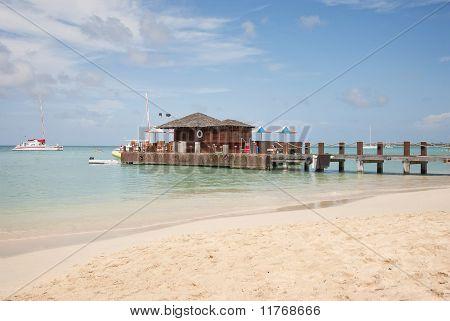 Beach Bar on Pier in the Caribbean