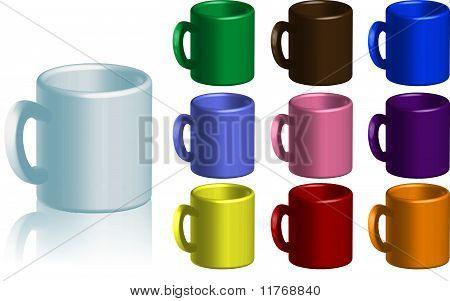 Coffee Mug Collection Vector